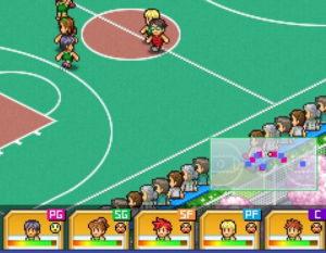 バスケクラブ物語の試合のスタミナとオーラ